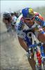 Johan Museeuw makes his winning attack in the 2000 Paris-Roubaix