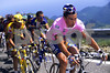 Pavel Tonkov wears the Maglia Rosa in the 1996 Giro d'Italia...
