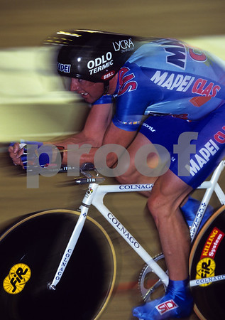 Tony Rominger in his successful Hour Record attempt in 1994