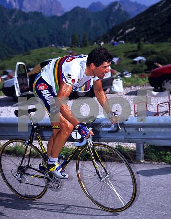 ABRAHAM OLANO IN THE 1996 GIRO D'ITALIA