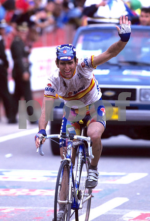ABRAHAM OLANO WINS THE 1995 WORLD ROAD CHAMPIONSHIPS IN COLOMBIA
