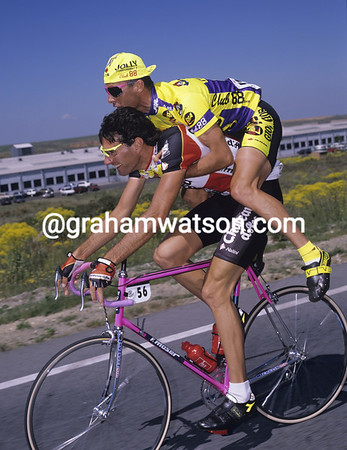 MARIO SCIREA AND STEFANO GIULIANI IN THE VUELTA A ESPANA