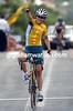 SARAH CARRIGAN WINS THE 2004 OLYMPIC GAMES ROAD RACE