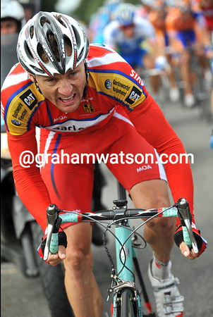 BADEN COOKE ON STAGE THREE OF THE 2008 TOUR DE FRANCE