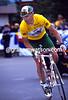 STUART O'GRADY CLIMBS ALP D'HUEZ IN THE 2001 TOUR DE FRANCE