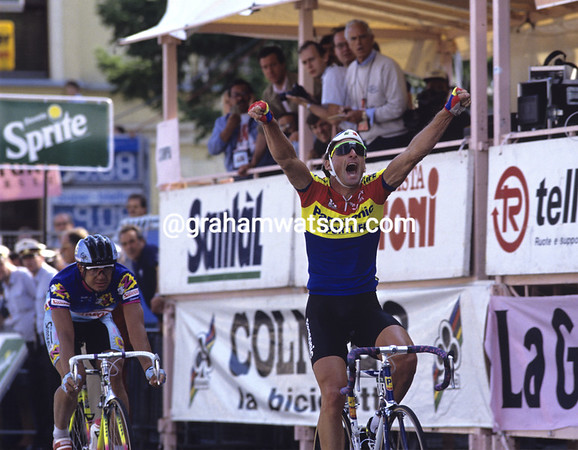 ALLAN PEIPER WINS A STAGE OF THE 1990 GIRO D'ITALIA