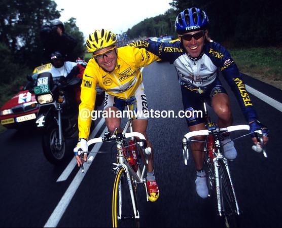 STUART O'GRADY AND NEIL STEPHENS IN THE 1998 TOUR DE FRANCE