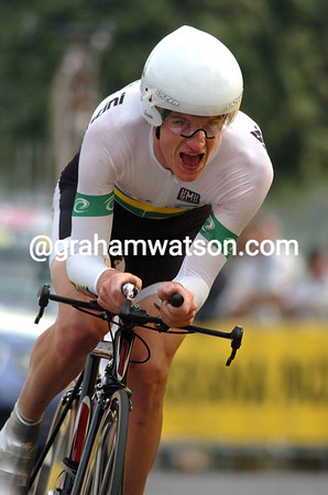 MICHAEL ROGERS IN THE 2004 WORLD TIME TRIAL CHAMPIONSHIPS