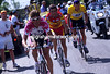 Jan Ullrich leads Richard Virenque and Lance Armstrong in the 2000 Tour de France