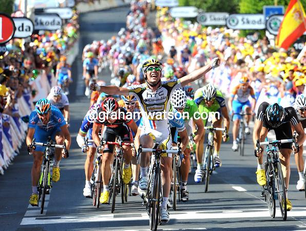 MARK CAVENDISH WINS STAGE FOUR OF THE TOUR DE FRANCE