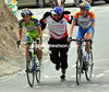 OLIVER ZAUGG AND DANIEL MARTIN GET A PUSH ON STAGE THIRTEEN OF THE 2009 TOUR OF SPAIN