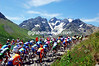 THE PELOTON CLIMBS THE COL DU GALIBIER ON STAGE SIXTEEN OF THE 2006 TOUR DE FRANCE