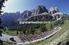 The Giro d'Italia climbs the Gardena Pass in 1991