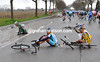 KOEN DE KORT AFTER A CRASH IN THE 2008 TOUR OF FLANDERS