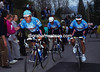 EVGENI BERZIN, GIORGIO FURLAN AND MORENO ARGENTIN START THEIR INFAMOUS WINNING ATTACK IN THE 1994 FLECHE WALLONNE