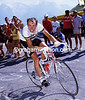 JOOP ZOETEMELK CLIMBS ALPE D'HUEZ IN THE 1986 TOUR DE FRANCE