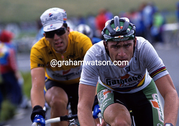 Gianni Bugno and Miguel Indurain in the 1993 Tour de France