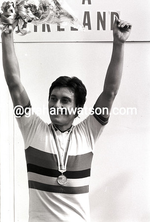GIUSEPPE SARONNI AFTER WINNING THE 1982 WORLD CHAMPIONSHIPS IN GOODWOOD