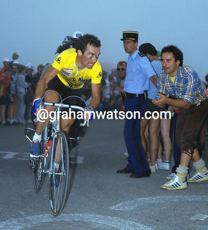 The Badger - Bernard Hinault climbs to Luz-Ardiden on his way to winning the 1985 Tour de France