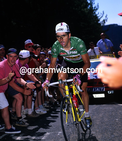 On the Attack - Laurent Jalabert races to victory at Mende after a stunning day's racing in 1995.