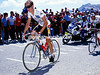 Maillot Jeune - Andy Hampsten climbs the Col du Galibier in the 1986 Tour de France.