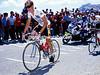 Maillot Jeune - Andy Hampsten climbs the Col du Galibier in the 1986 Tour de France.