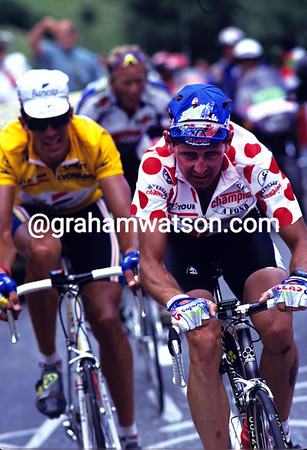 Swiss Master - Tony Rominger leads Miguel Indurain and Zenon Jaskula on an Alpine climb in 1993