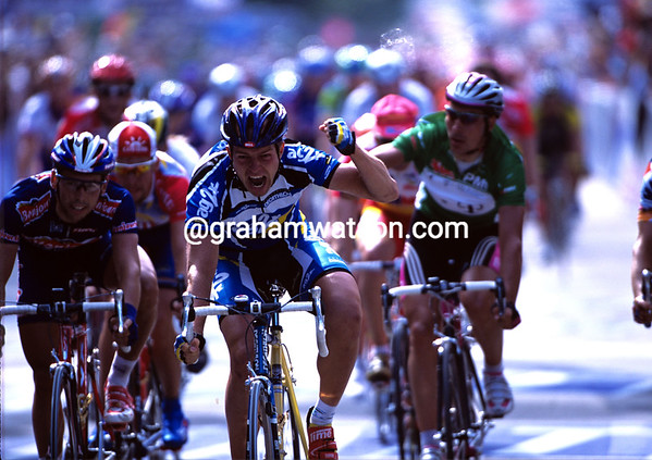 Estonian Fighter - Jaan Kirsipuu wins a stage of the 2001 Tour into Strasbourg