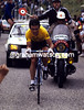 Bernard Hinault time-trialling in the 1981 Tour de France.