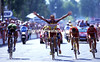 Pour La France - Jacky Durand takes France's only stage-win of the 1998 Tour, at Montauban.