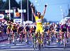 The Sprint King - Mario Cipollini wins a stage into Vire in the 1997 Tour de France.