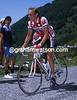 Young Talent - Graham Jones climbs a Col during the 1984 Tour de France
