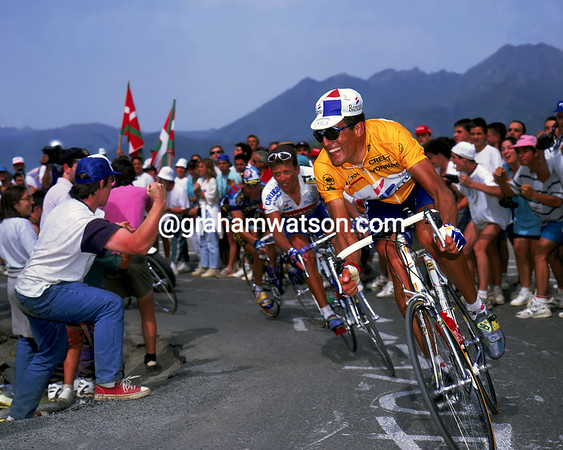 Flat Out - Miguel Indurain races to Luz-Ardiden in the 1994 Tour de France