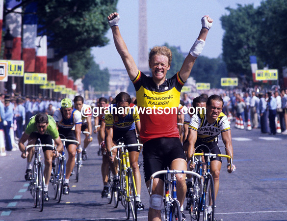 Made in Belgium - Eric Vanderaerden wins the final stage of the 1984 Tour de France