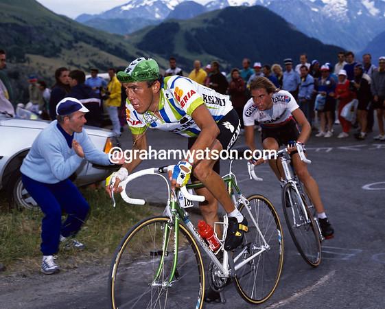 Seeking Glory - Fabio Parra and Gert-Jan Theunisse on Alpe d'Huez in 1990