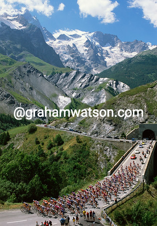 In the Land of the Gods - The Tour peloton climbs the Col du Lautaret in 2002
