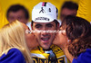 Golden Boy - Laurent Jalabert celebrates taking the Yellow Jersey at Alençon in 1995