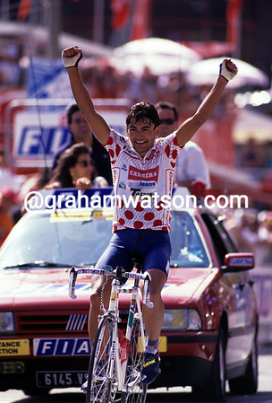 An Epic Day - Claudio Chiappucci wins into Sestriere after a 245km escape.