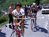 Mexican Wave - Raul Alcala wrings the sweat from his jersey at Alpe d'Huez in 1987.