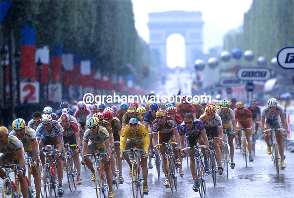 Rain on My Parade - Marco Pantani nears the end of his victorious Tour in 1998