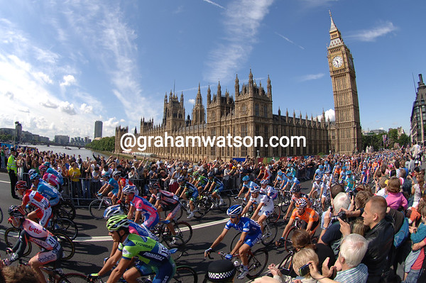 London Pride - The 2007 Tour de France departs from Big Ben on a stage to Canterbury.<br /> <br /> TREASURED IMAGE