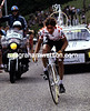 One of the Greatest - Mountain-climber Lucien Van Impe performs at St Priest in the 1981 Tour de France