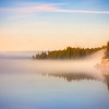 Fog over Yellowstone Lake