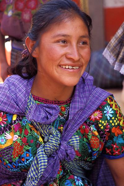 Guatemalan woman in market.