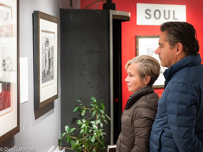 """Couple Viewing """"Cultures In Transition"""" Exhibit"""