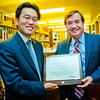 Congressman Ed Royce & Kevin Lee.<br /> Chapman University