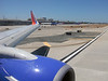 First in line for take off at John Wayne Airport (SNA), Orange County, California.