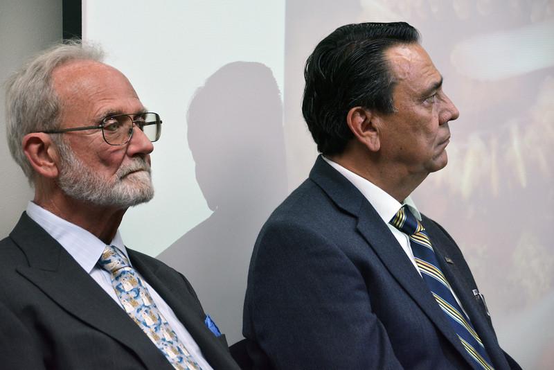 Book authors Dr. Hans Bertsch (L) and Oceanographer Luis E. Aguilar Rosas