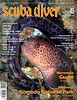 """Scuba Diver"" magazine, front cover, Juvenile Wolf Eel.<br /> God's Pocket, Hurst Island, Canada<br /> Published May/June 2017"