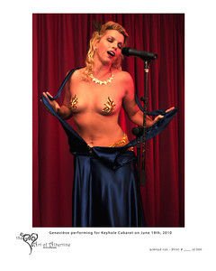 Geneviève performing for Keyhole Cabaret